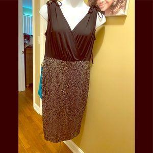 Black w Silver sequins A-Line Dress